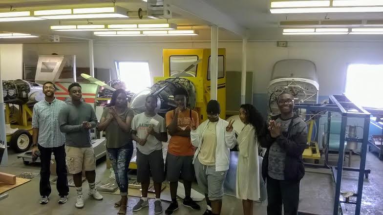 High School Students Tour Hangar